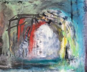 foto 1 abstrakt maleri hvid blå
